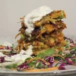 Carrot & Potato Fritters (Vegan Option)