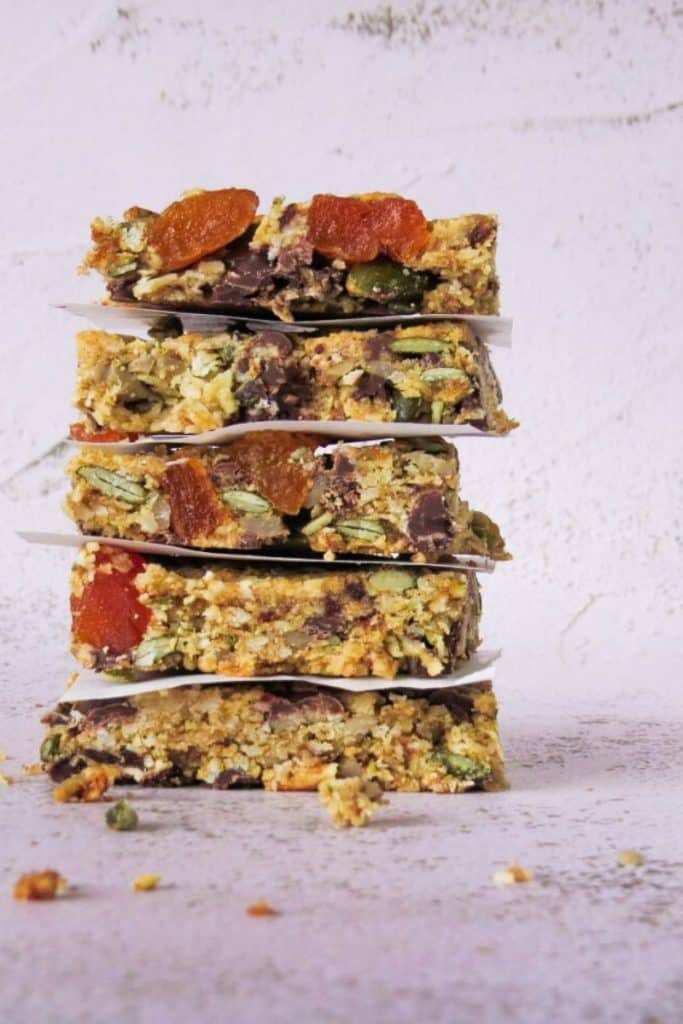 Vegan 'Muesli' Slice in a Stack