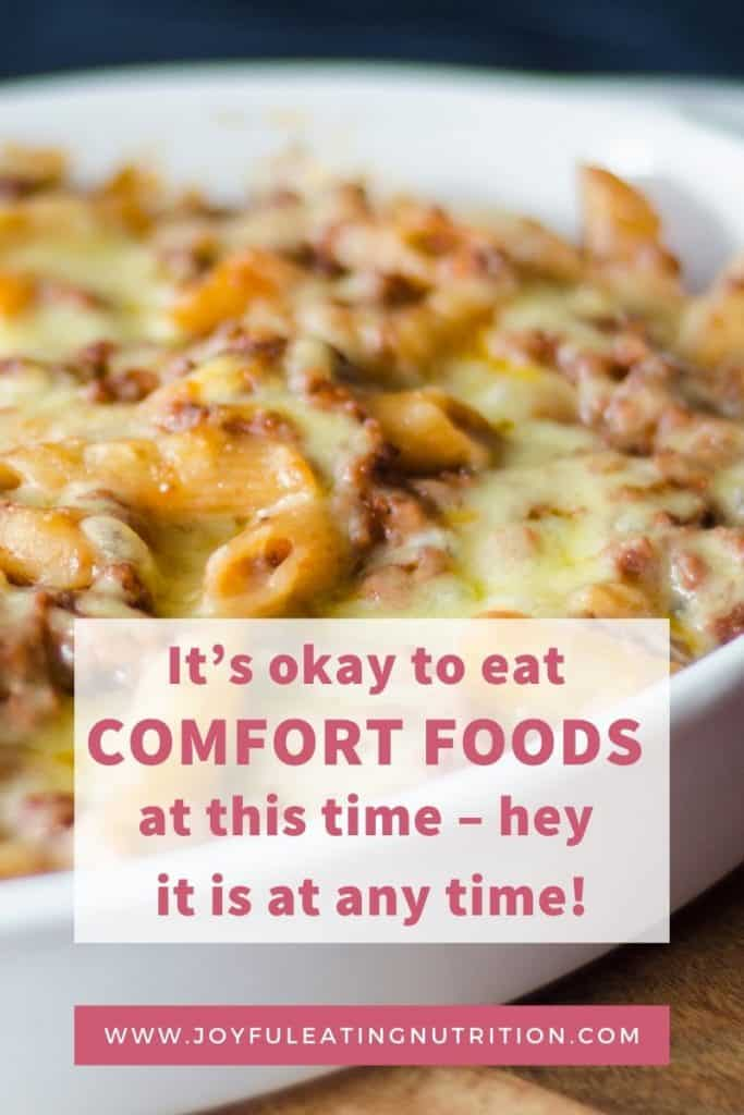 Don't guilt yourself for eating comfort foods.