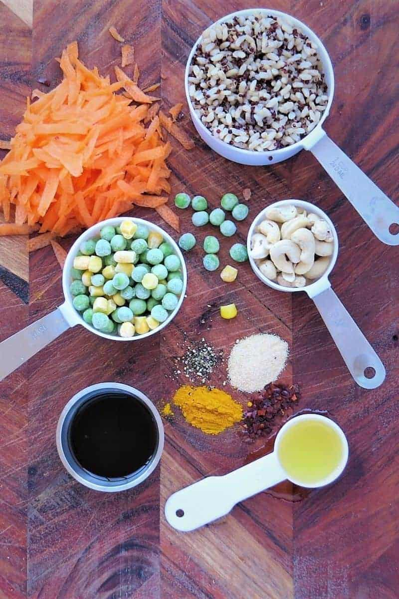 Simple Fried Rice for One Basic Ingredients