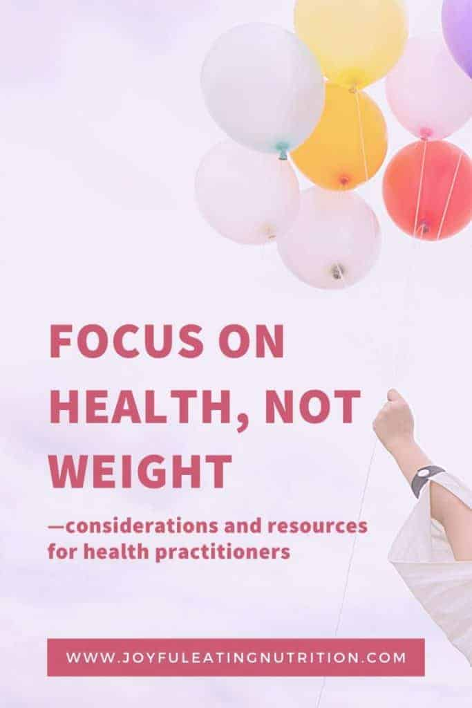 Focus on Health, Not Weight