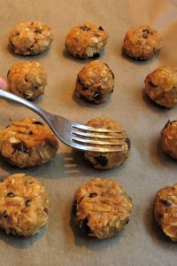 Preparing Pumpkin Peanut Butter Cookies