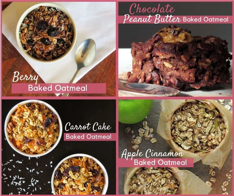 Baked Oatmeal Collage with Flavour Titles
