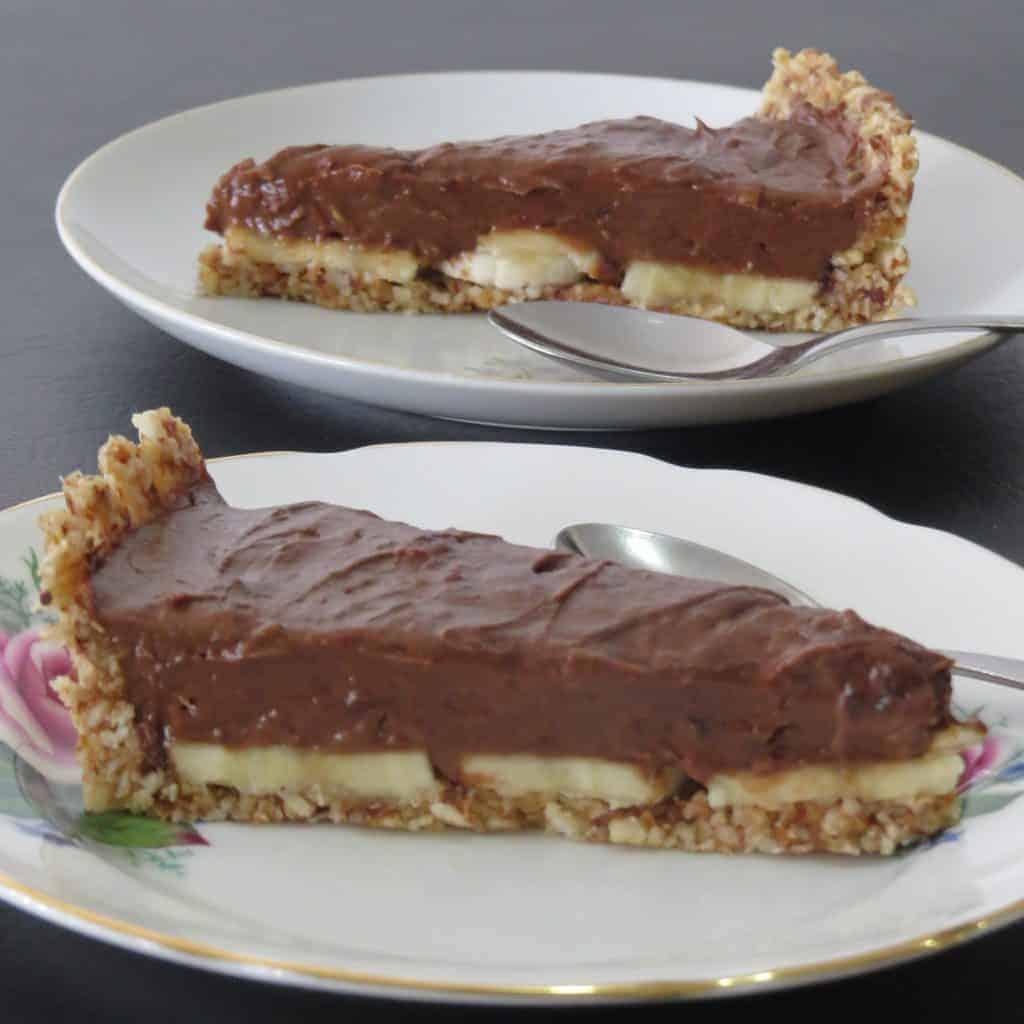 Two slices Chocolate Avocado Mousse Pie