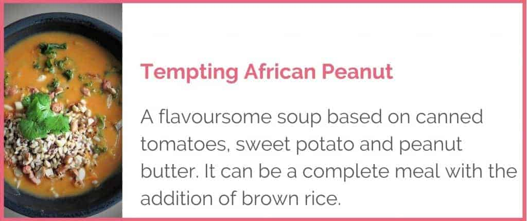 Tempting African Peanut Soup Image and Title